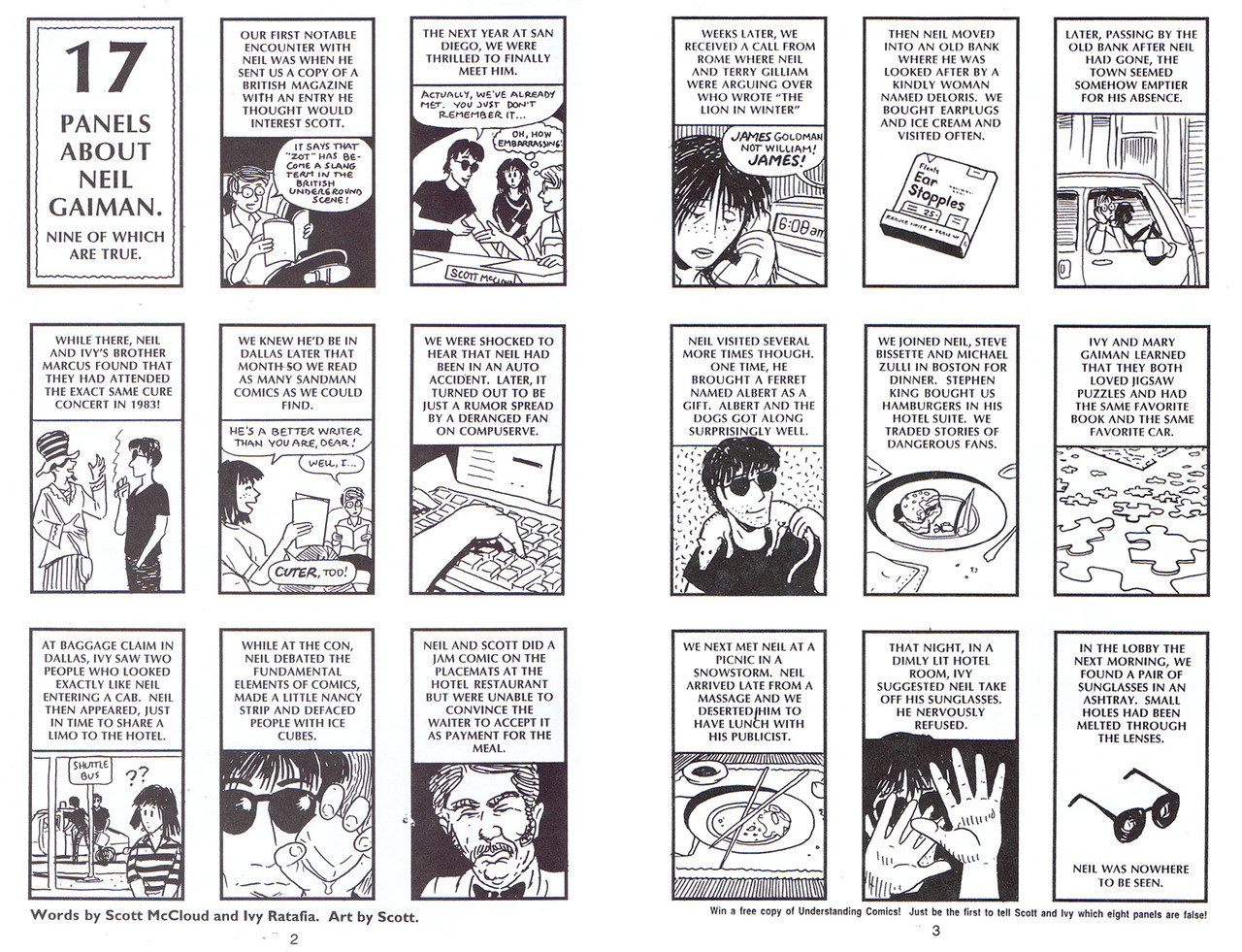 scott mccloud understanding comics essay Mccloud emphasizes that the definition excludes: prohibition of any materials or tools limitations of genre, subject matter, or style presumably, then, a haiga sequence could be a comics a single image, which he says is a cartoon but not a comics.
