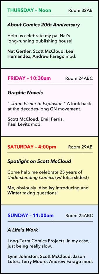 Comic-Con Panels